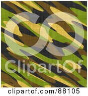 Royalty Free RF Clipart Illustration Of A Green Brown Black And Yellow Army Camouflage Background by Arena Creative