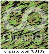Royalty Free RF Clipart Illustration Of A Seamless Green Camouflage Texture Background