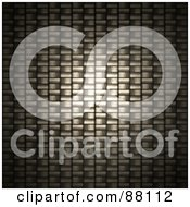 Royalty Free RF Clipart Illustration Of A Light Shining On A Closeup Carbon Fiber Weave by Arena Creative