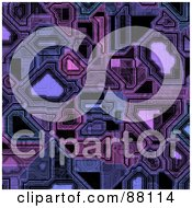 Royalty Free RF Clipart Illustration Of A Purple Circuitry Background by Arena Creative