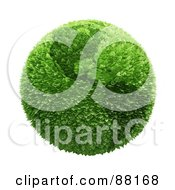 Royalty Free RF Clipart Illustration Of A Botanical Earth Of Leaves Featuring The Americas