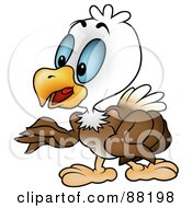 Royalty Free RF Clipart Illustration Of A Bald Eagle Standing And Gesturing With His Wings by dero