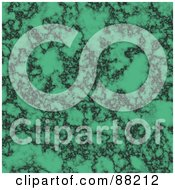 Royalty Free RF Clipart Illustration Of A Green Marble Textured Background by Arena Creative