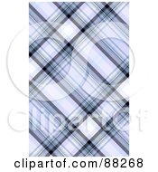 Royalty Free RF Clipart Illustration Of A Blue Tartan Plaid Patterned Background
