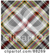 Royalty Free RF Clipart Illustration Of A Colorful Tartan Plaid Patterned Background by MacX