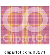 Royalty Free RF Clipart Illustration Of An Orange And Pink Plaid Patterned Background by MacX
