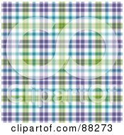 Royalty Free RF Clipart Illustration Of A Blue Purple And Green Plaid Patterned Background by MacX