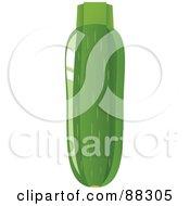 Shiny Green Organic Zucchini