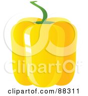 Royalty Free RF Clipart Illustration Of A Shiny Yellow Bell Pepper by Tonis Pan
