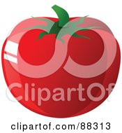 Royalty Free RF Clipart Illustration Of A Shiny Large Plump Red Hot House Tomato
