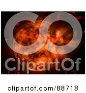 Royalty Free RF Clipart Illustration Of A Hot Red Planet About To Burst On Black