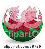 Royalty Free RF Clipart Illustration Of A Shiny 3d Wales Sphere by elaineitalia