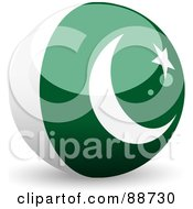 Royalty Free RF Clipart Illustration Of A Shiny 3d Pakistan Sphere by elaineitalia