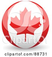 Royalty Free RF Clipart Illustration Of A Shiny 3d Canadian Sphere by elaineitalia