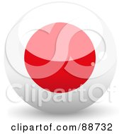 Royalty Free RF Clipart Illustration Of A Shiny 3d Japan Sphere by elaineitalia