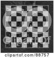 Royalty Free RF Clipart Illustration Of A Shiny Glass Checkered Chess Board by Arena Creative