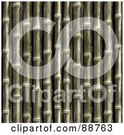 Royalty Free RF Clipart Illustration Of A Bamboo Stalk Background Over Black
