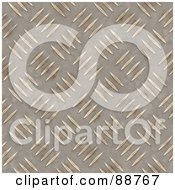 Royalty Free RF Clipart Illustration Of A Diamond Plate Texture Background