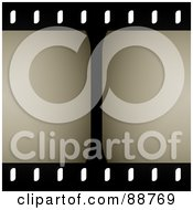 Royalty Free RF Clipart Illustration Of A Center Line In A Film Strip