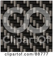 Royalty Free RF Clipart Illustration Of A Realistic Carbon Fiber Texture In Diagonal Rows by Arena Creative
