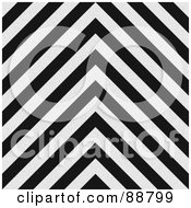 Royalty Free RF Clipart Illustration Of A Background Of Black And White Zig Zag Hazard Stripes
