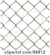 Chain Link Fence Background Over White