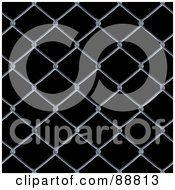Chain Link Fence Background Over Black