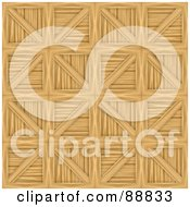 Royalty Free RF Clipart Illustration Of A Wooden Crates Pattern Background by Arena Creative