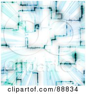 Royalty Free RF Clipart Illustration Of A Blue Circuitry Vortex by Arena Creative