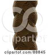 Royalty Free RF Clipart Illustration Of A Brown Braided Rope Over White