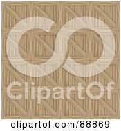 Royalty Free RF Clipart Illustration Of A Wooden Crates Pattern Background