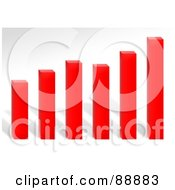 Royalty Free RF Clipart Illustration Of A Red Profit Bar Graph Over Gray by Arena Creative