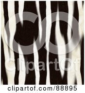 Royalty Free RF Clipart Illustration Of A Vertical Background Of Zebra Stripes by Arena Creative