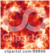 Royalty Free RF Clipart Illustration Of A Fiery Red Explosion Background