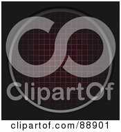 Royalty Free RF Clipart Illustration Of A Red Radar Grid On Black