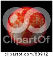 Royalty Free RF Clipart Illustration Of A 3d Red Planet Over Black
