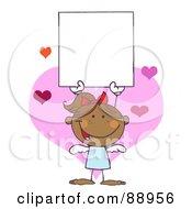Hispanic Female Stick Cupid Holding A Blank Sign