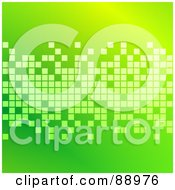 Royalty Free RF Clipart Illustration Of A Green Background With Pixel Blocks by Prawny