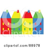 Royalty Free RF Clipart Illustration Of A Row Of Colorful Village Homes by Prawny