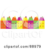 Royalty Free RF Clipart Illustration Of A Row Of Colorful Town Homes
