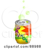 Royalty Free RF Clipart Illustration Of Bubbles Over A Grunge Soda Can by Prawny