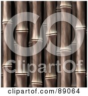 Royalty Free RF Clipart Illustration Of A Thick Bamboo Stalk Background by Arena Creative