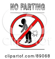 Royalty Free RF Clipart Illustration Of A Prohibited Symbole Over A Silhouetted Person Fating
