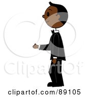 Royalty Free RF Clipart Illustration Of An African Groom Standing In A Tuxedo by Pams Clipart