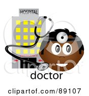 Male Indian Doctor With A Stethoscope And Hospital