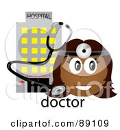 Female Indian Doctor With A Stethoscope And Hospital