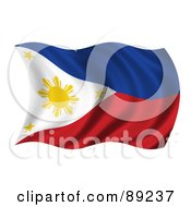 Royalty Free RF Clipart Illustration Of A 3d Silky Rippling Philippines Flag