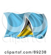 Royalty Free RF Clipart Illustration Of A 3d Silky Rippling Saint Lucia Flag