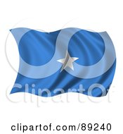Royalty Free RF Clipart Illustration Of A 3d Silky Rippling Somalia Flag