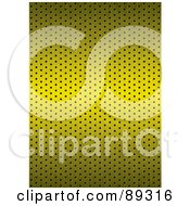 Royalty Free RF Clipart Illustration Of A Shiny Gold Metal Grill Background Texture